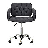 Stanford Charcoal Fabric Small Office Chair