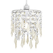Jewel Ceiling Pendant Light Shade in Cream & Clear