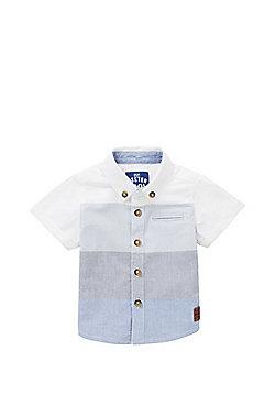 F&F Striped Chambray Shirt - Blue