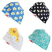 Zippy Fun Baby Bandana Drool Bibs (4 Pack Gift Set) Summer Fun