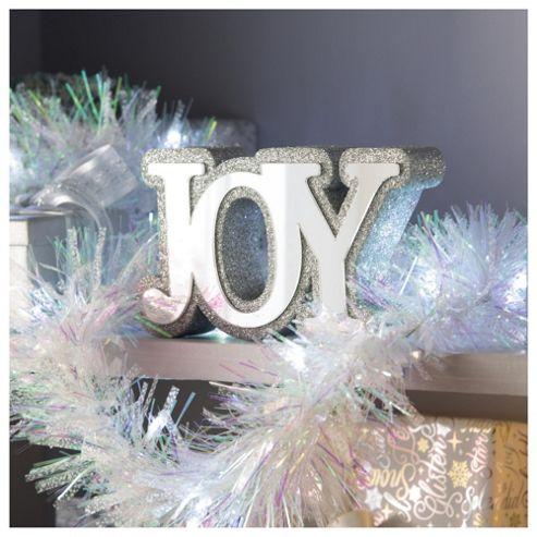 Tesco Mirrored Joy Christmas Decoration