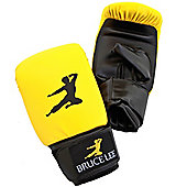 Bruce Lee Signature Boxing Bag Gloves Synthetic Leather - Yellow