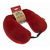 Globetrek International Luxury U Shape Travel Neck Pillow, Red