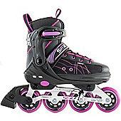 SFR RX-XT Adjustable Inline Skates - Black/Pink - Large (UK 3.5 - UK 6) - Pink