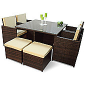Rattan Cube Set with 4 Seats & 4 Stools