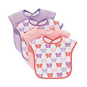 Mothercare Towelling Butterfly Bibs- 4 Pack