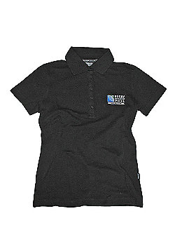 Official Rugby World Cup 2011 Runaway Try Womens Polo Shirt - Black