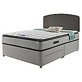 Sealy Pillowtop Super King Non Storage Divan Charcoal