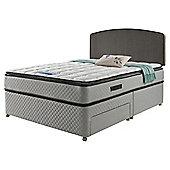 Sealy Pillowtop King Size Non Storage Divan Charcoal