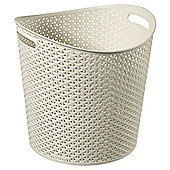 Curver my style storage basket round Cream