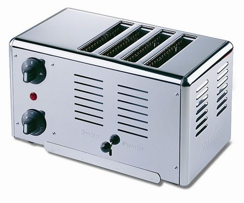 Rowlett Rutland Premier 4 Slice Bread Toaster in Polished Stainless Steel