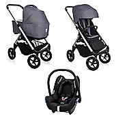 Easywalker Mosey All in One Maxi Cosi Travel System - Berlin Grey (Silver Chassis)