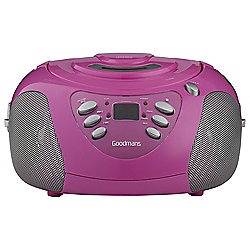Goodmans GPS02PNK FM & CD Boombox, Pink