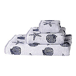 El Corte Ingles White Sea Star Towel - 30 x 50cm