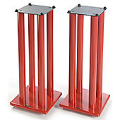 Atacama Pair of Speaker Stands in Red - Height 700mm