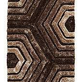 Think Rugs Noble House Brown Shaggy Rug - 150 cm x 230 cm (4 ft 11 in x 7 ft 7 in)