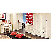 Welcome Furniture Pembroke Wardrobe with 2 Drawers - 95.5 cm - Cream