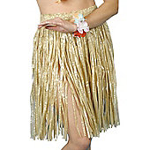 56cm Hawaiian Hula Skirt Natural Colour
