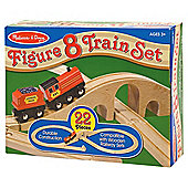 Melissa & Doug Figure 8 Wooden Train Set