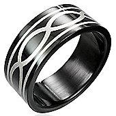 Urban Male Men's Ring Black Stainless Steel 8mm Celtic Band