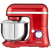 VonShef 1000W Electric Food Stand Mixer Red