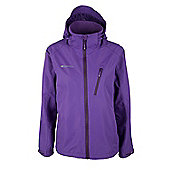 Womens Brisk Extreme Warm Waterproof Walking Hiking Jacket Coat - Purple