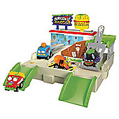 The Trash Pack Trash Wheels Burger Flip Out Playset
