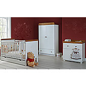 Disney Winnie the Pooh 3 Piece Double Furniture Set - White