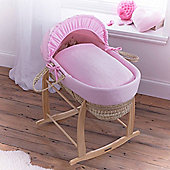 Clair de Lune Palm Moses Basket (Cotton Candy Pink)