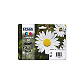 Epson Daisy 18 Series (T1806) Multipack 4 Colour (Black/Cyan/Magenta/Yellow) Ink Cartridges RF/AM - for XP-30 / XP-102 / XP-202 / XP-205 / XP-302 /