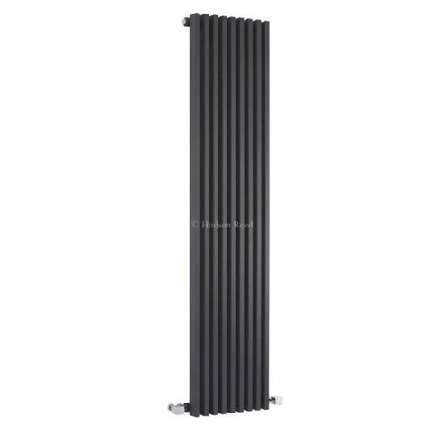 Hudson Reed Parallel Single Panel Designer Radiator 1500mm x 342mm Anthracite