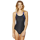 Speedo Endurance®10 Contrast Logo Muscle Back Swimsuit - Dark grey