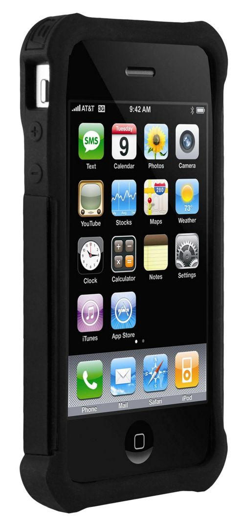 Ballistic Shell Gell Case for iPhone 4 - Black