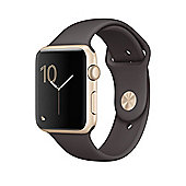 Apple Series 1 (42mm) Watch with Gold Aluminum Case and Cocoa Sport Band