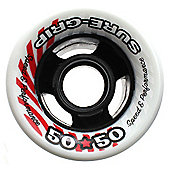 50/50 Blue/Orange 62mm Roller Skate Wheels