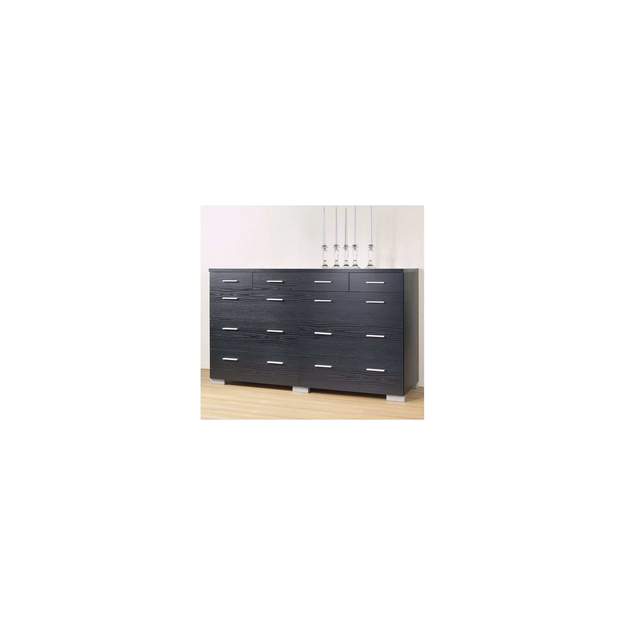 Tvilum Puls 10 Drawer Chest - Black Woodgrain at Tesco Direct