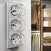 Metal Lux Capriccio Three Light Wall Light - Clear Crystal Pirex