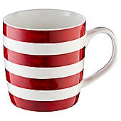 Tesco red Stripe Barrel Mug Single