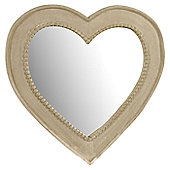 Papa Theo Medium Heart Mirror - Natural Limed