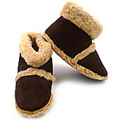 Mens Fluffy Boot Slippers (Large)