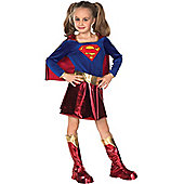 Child Deluxe Supergirl Super Hero Costume Medium