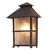 Elstead Lighting Wadebridge 1 Light Outdoor Wall Lantern in Rust