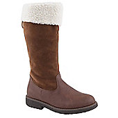 Skittles Girls Equestrian Brown Long Boots