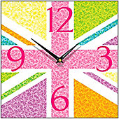 Smith & Taylor Union Jack Multiflora Vintage Square Wall Clock