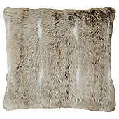 Light Natural Faux Fur Cushion