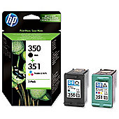 HP 350 Black/351 Tri-colour 2-pack Original Ink Cartridges