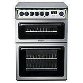 Hotpoint HAE60XS Stainless Steel Electric Cooker with Double Oven