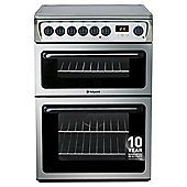 Hotpoint HAE60XS, Freestanding, Electric Cooker, 60cm, Stainless Steel, Twin Cavity, Double Oven