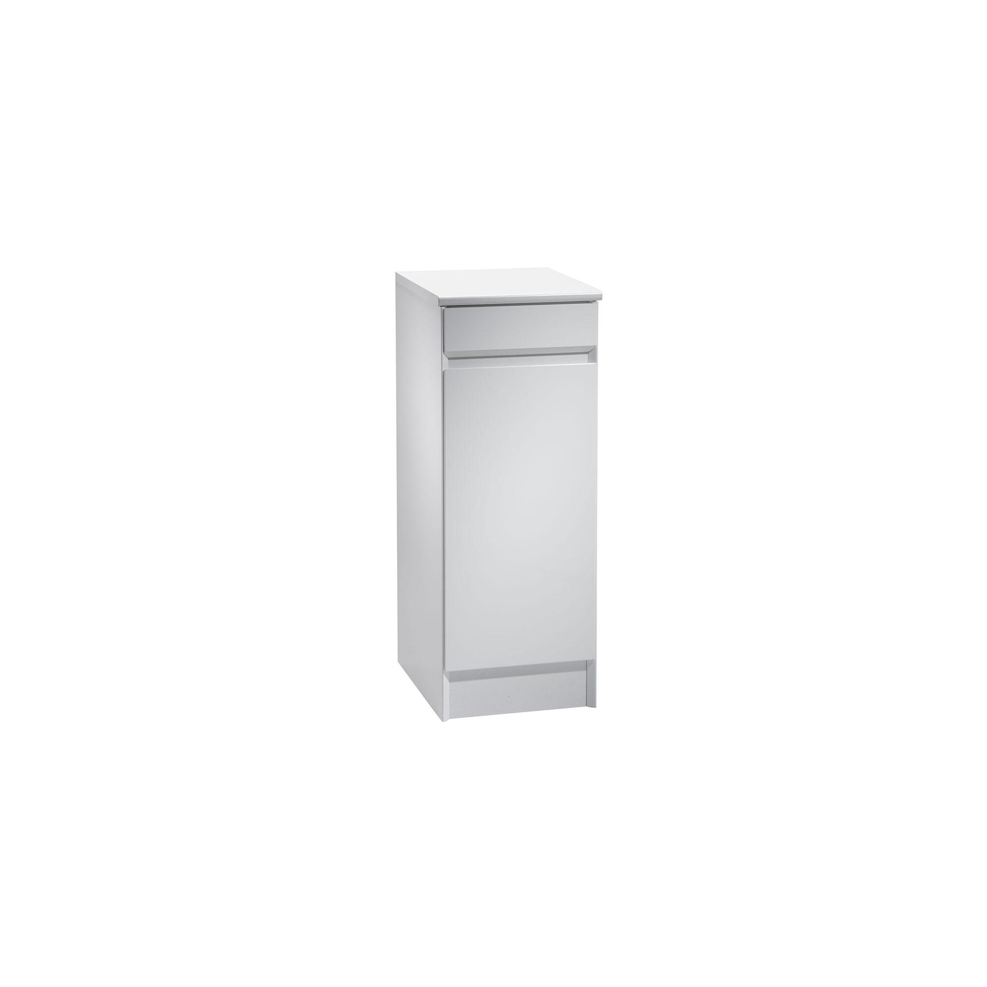 Tavistock Sharp White Floor Standing Cupboard Unit - 300mm Wide