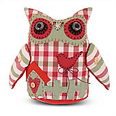 Handmade Fabric Owl Door Stop For The Home